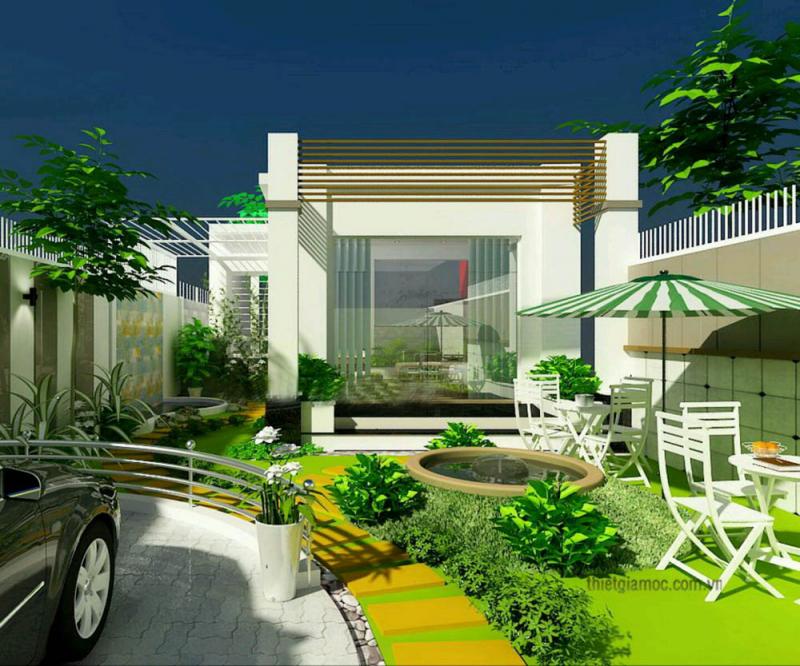 mẫu thiết kế cảnh quan nhà phố