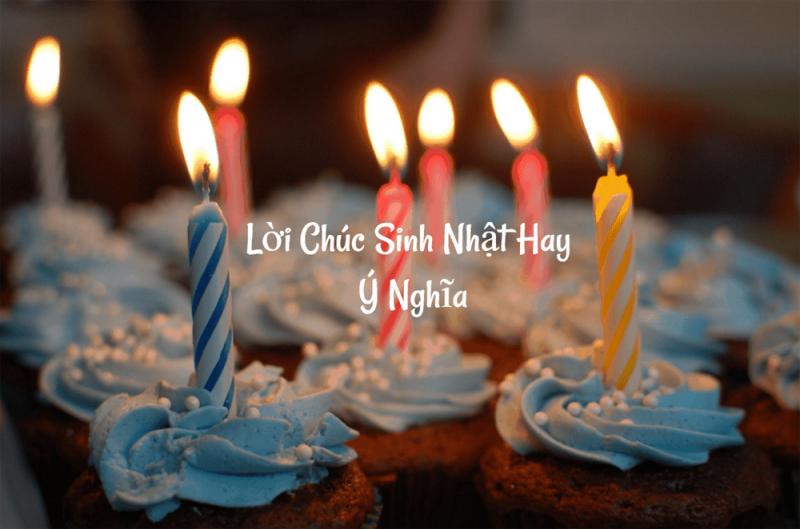 câu chúc lời chúc sinh nhật ý nghĩa