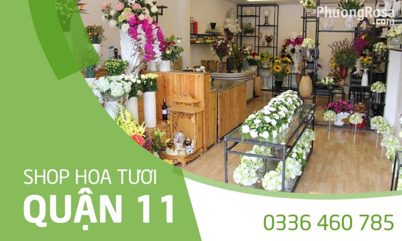 shop hoa quận 11 online