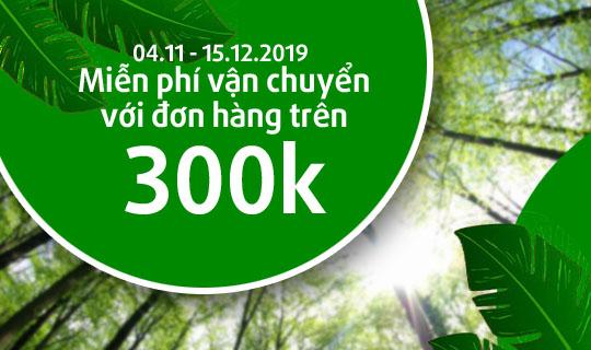 khuyến mãi miễn phí vận chuyển cây xanh