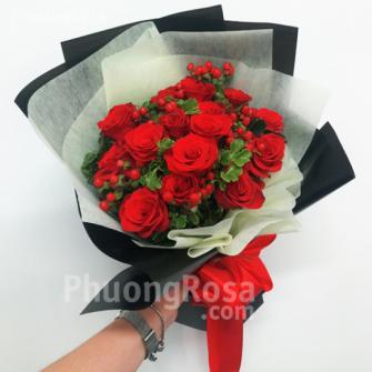 Bó hoa Sinh nhật Hoa Hồng, Chuỗi Ngọc - Yêu em