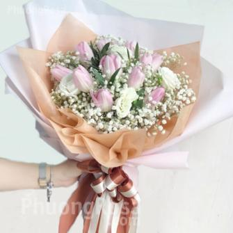 Bó Hoa Tulip Nhập khẩu Cao cấp